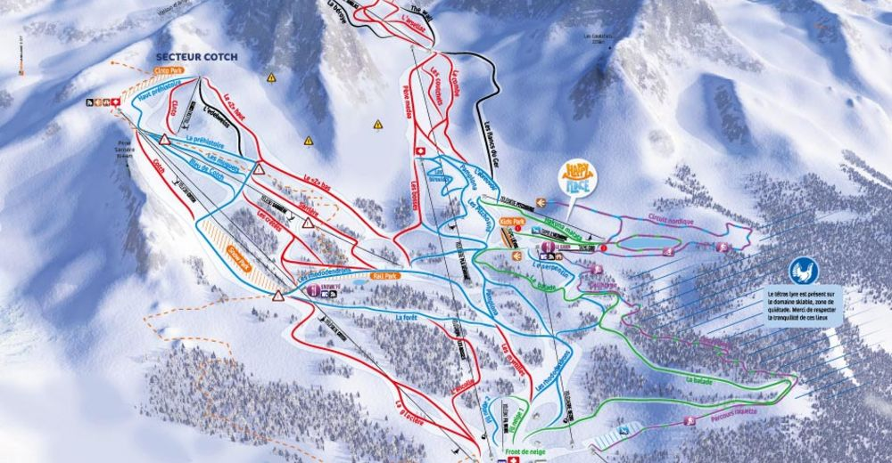 Piste map Ski resort Gourette