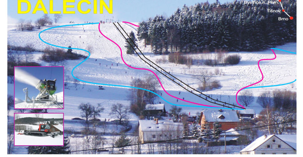 Pistenplan Skigebiet Dalečín