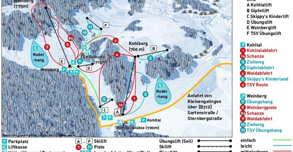 Piste map Ski resort Engstingen