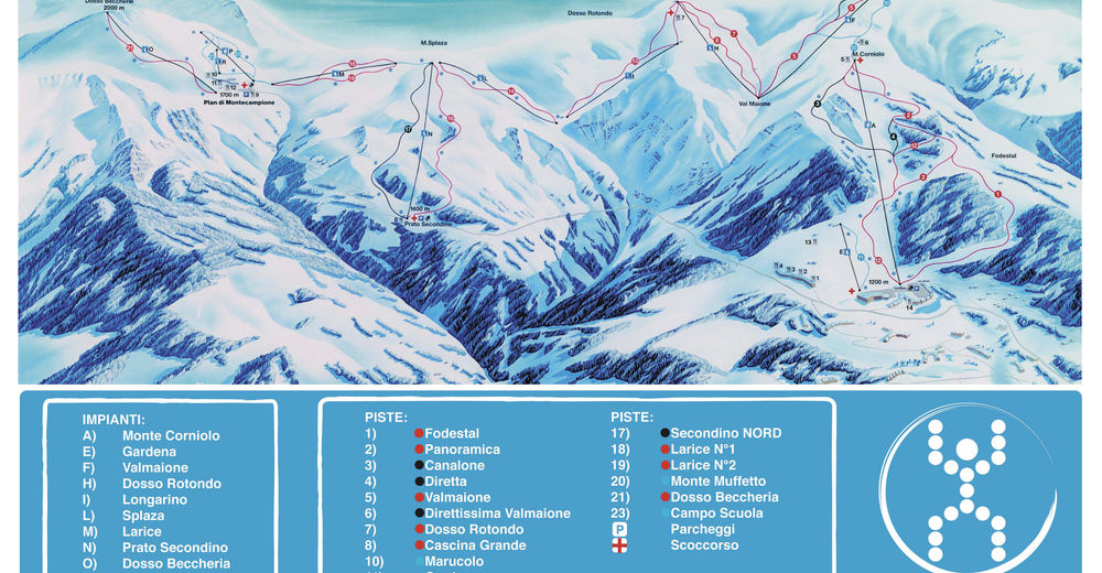 Piste map Ski resort Montecampione