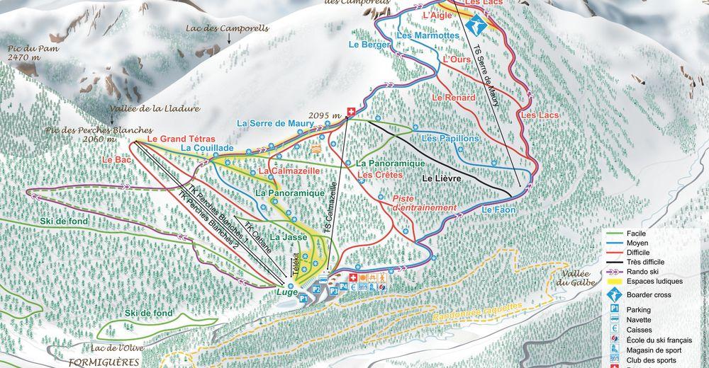 Pistplan Skidområde Formiguères