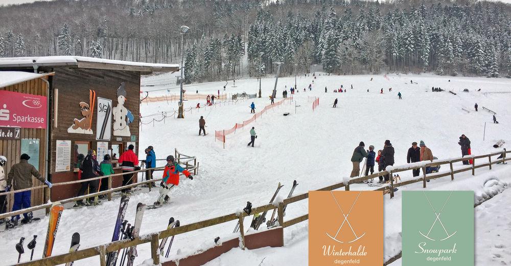 Plan skijaških staza Skijaško područje Skilift Winterhalde / Degenfeld
