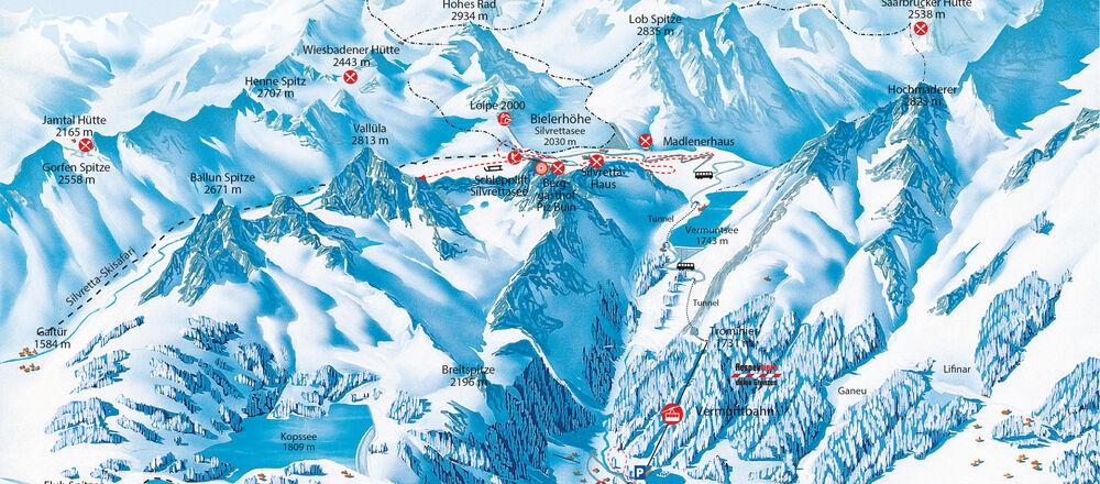 Loipenplan Silvretta-Bielerhöhe