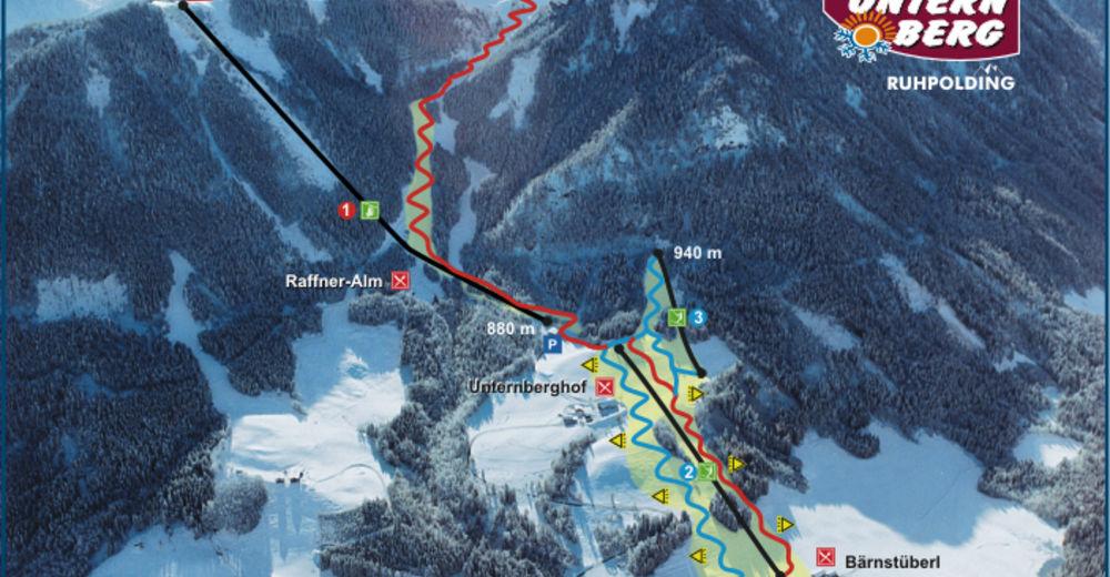 Pistenplan Skigebiet Unternberg / Ruhpolding