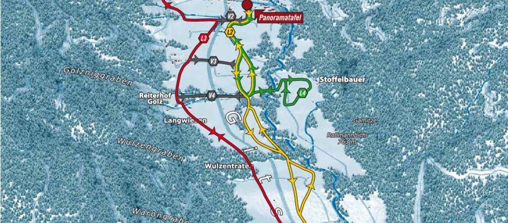Loipenplan Weißbriach - Gitschtal
