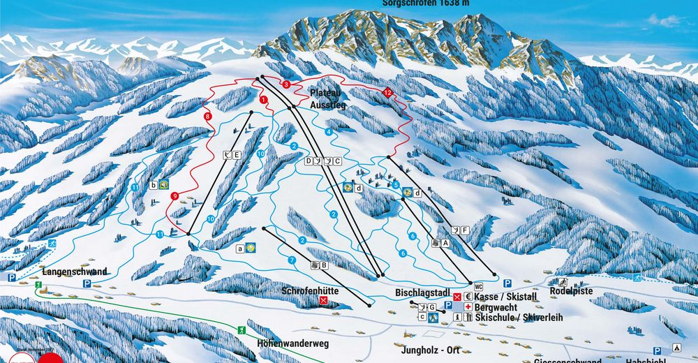 Piste map Ski resort Jungholz