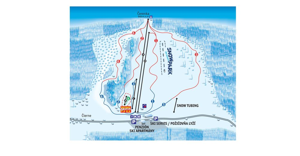 Piste map Ski resort Ski Makov