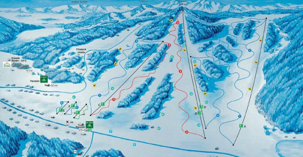 Pályaterv Síterület Skipark Vyšné Ružbachy
