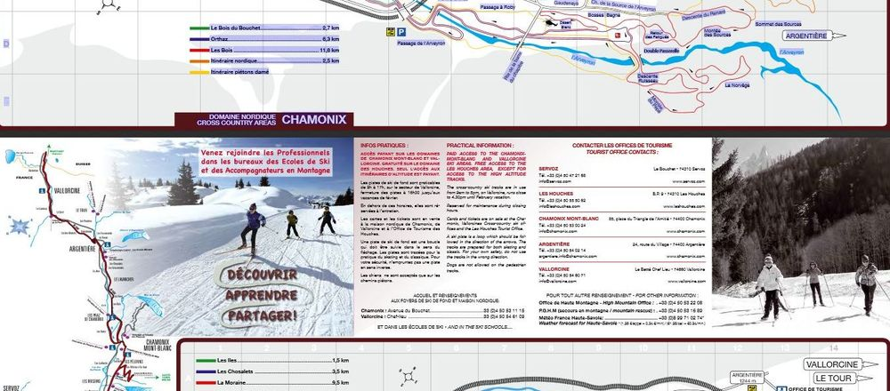 Loipenplan Chamonix - Argentière