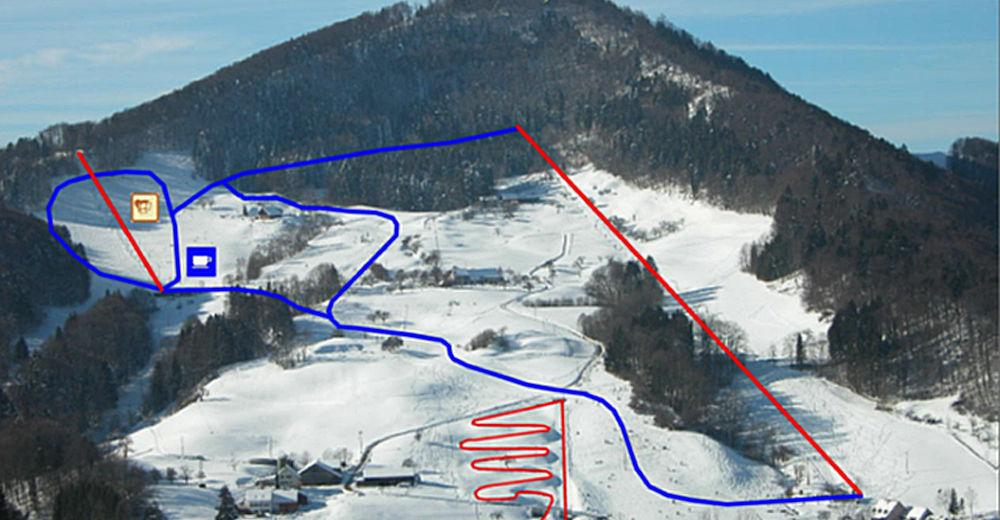 Pisteplan Skiområde Langenbruck