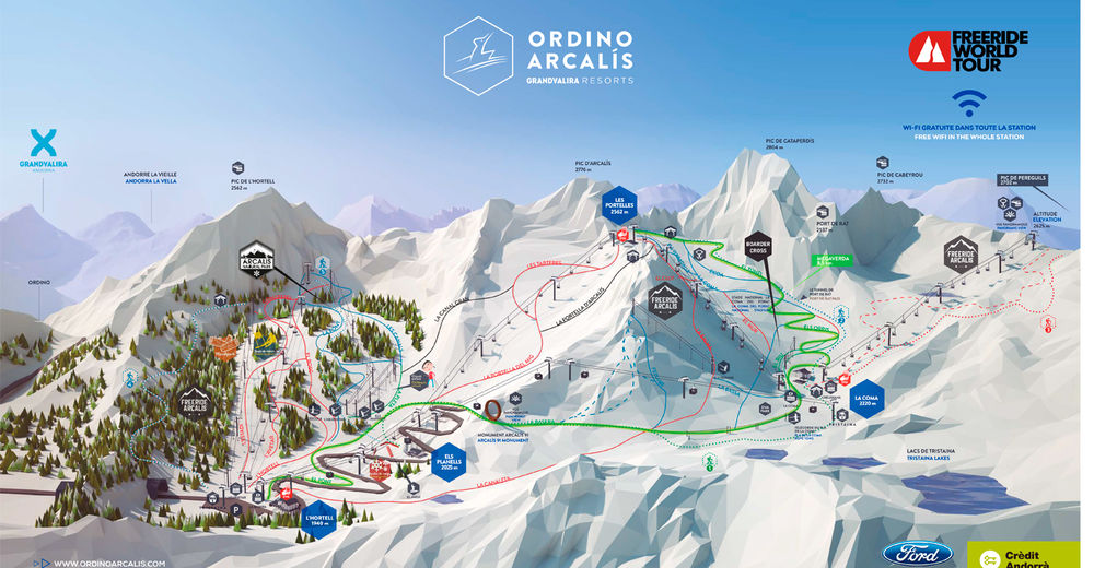 Piste map Ski resort Vallnord / Arcalís - Ordino