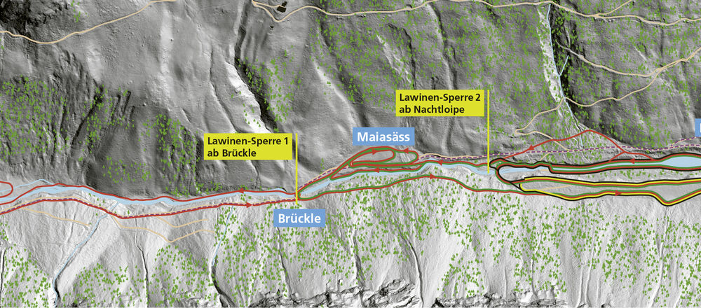Loipenplan Steg/Valüna in Liechtenstein